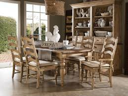 Unique Wooden Farmhouse Dining Table Set With Wooden Chairs