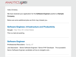 io Jobboard Email Confirmation New Applicant Job - Update