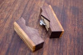 mountain style small proposal ring box