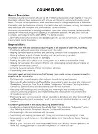 resume job description for camp counselor sample customer resume job description for camp counselor writing camp jobs on a resume campspirit job resume summer