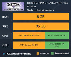 Dissidia Final Fantasy Nt Free Edition System Requirements