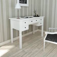 office writing table. Image Is Loading 110cm-White-Office-Writing-Desk-with-5-Drawers- Office Writing Table