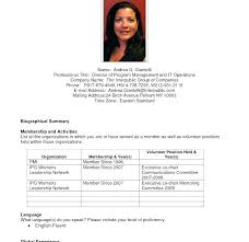 Resume Bio Example Classy Sample Resume Professional Biography Examples As Well As Writing For