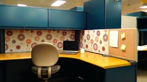 ideas for decorating office cubicle. Marvelous Cork And Wallpaper Clean Office Ideas Decorating Cubicle For Birthdays E