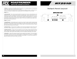 mtx audio rt251d user manual page 4 19