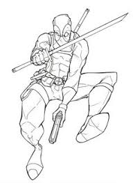Small Picture Deadpool Coloring Pages DEADPOOL Pinterest Deadpool