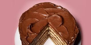 Yellow Layer Cake With Chocolatesour Cream Frosting Recipe Bon