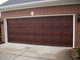 painting aluminum garage doors to look like wood home