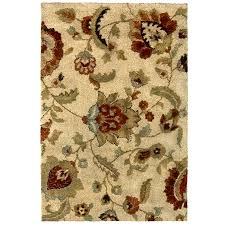 allen roth cliffony cream beige almond indoor area rug common 8