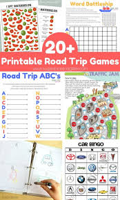 Free Cars Printables 20 Free Road Trip Game Printables Sugar Spice And Glitter