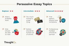 persuasive essay idea 100 persuasive essay topics