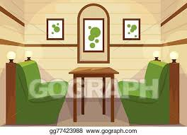 restaurant table clipart. Delighful Table Restaurant Table Interior Room Cafe Vector Throughout Clipart N