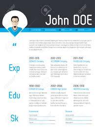 Modern Resume Cv Curriculum Vitae Template Design With Photo