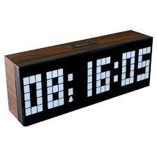 digital office wall clocks. led wooden clock digital wood wall watch big screen dual alarm bedside snooze kitchen timer office clocks