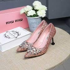 ミュウミュウコピー 靴 2017春夏新作miumiu レディース 流行の