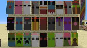 Minecraft Banner Patterns Impressive The Mobs Of Minecraft Made In Bannerskinda Minecraft