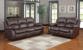 Reclining Living Room Sets Cranley 2pc Double Reclining Sofa Set In Brown Sofa And Loveseat