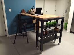 kitchen island table ikea. Fine Kitchen Hightop Gerton Slab Kitchen Island In Table Ikea L