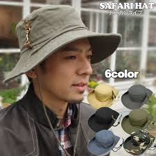 Hat Safari men\u0027s hats women\u0027s Fedora brim wide cotton unisex jungle UV hook 10P28Sep16 missa-more: