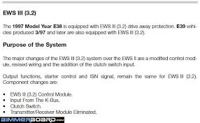 ews no starts issue bimmerfest bmw forums substitute ews control module for transmitter receiver for your 2000 model yr its function was combined into the ews cm