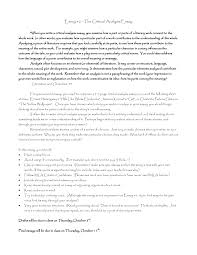 example of a critical essay  template