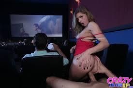 Crazy slut sucking big cock