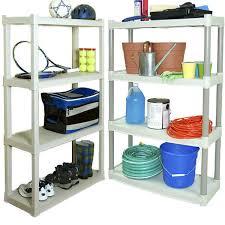 details about plano 4 shelf heavy duty plastic storage unit organizer shelving rack 2 pack