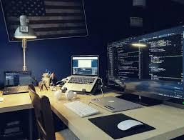 home office computer setup. Desk Setup, Computer Desks, Gaming Pc Programming, Office Workspace, Home Setup