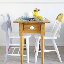 small dining room furniture ideas. small dining room with slimline table and painted chairs furniture ideas