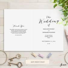 Invitations Program Booklet Template Catholic Wedding Program