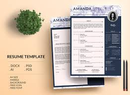 Marble Simple Resume Template Cv Template Letterhead By