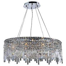worldwide lighting cascade collection 12 light chrome and crystal chandelier