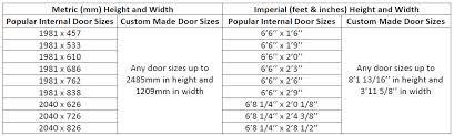 standard door sizes