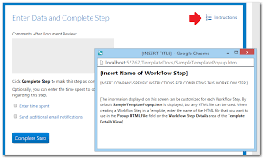 Changing the Instruction Tab of the Step Completion Dialog Boxes
