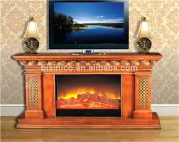 tv stand with fireplace insert antique wooden mantel decorative diy