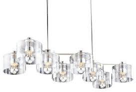 Sonneman Pendant Lighting 4808 Transparence 8 Light Rectangle  I