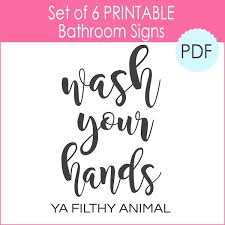 bathroom signs printable.  Bathroom 6 Printable Bathroom Signs  Inside The Girl Creative