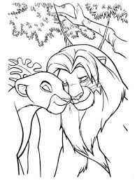 Small Picture Simba Fighting Scar The Lion King Coloring Page Animal Coloring