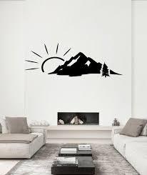 mountain wall decal mountain wall art