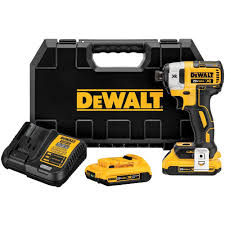 dewalt impact driver. dewalt 20-volt max xr lithium-ion cordless brushless 1/4 in. 3-speed impact driver with (2) batteries 2ah, charger and case-dcf887d2 - the home depot dewalt