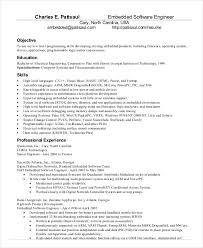 Resume Format For Experienced Software Engineer Tomyumtumweb Com