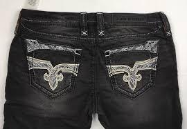 Rock Revival Plus Size Chart Womens Rock Revival Skinny Jeans Low Rise Julieta Black Ankle Skinny Jean 31 32 Inseam 30