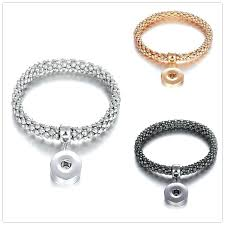ginger snaps bracelets snap bracelet jewelry silver elastic ons charm bangle fit clic gold from ks