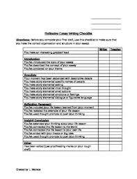 College Essay Writing Workshop Tc Writers Workshop Reflective Hs College Essay Writing Checklist