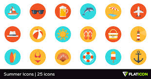Summer Icons Summer Icons 25 Premium Icons Svg Eps Psd Png Files
