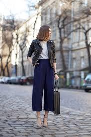 culottes cropped jacket fashion