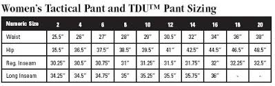 5 11 Tactical Tdu Pants Size Chart Best Picture Of Chart