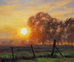 Rural Sunrise Painting by Graham Gercken