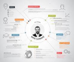 Minimalist Resume minimalist cv resume template Stock Vector © orson 100 69