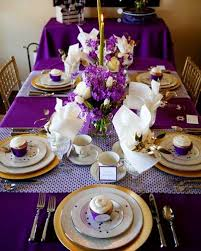 Best 25+ Purple table settings ideas on Pinterest | Purple table  decorations, Purple table and Round table with runner